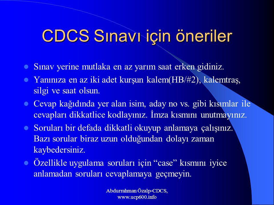 CDCS Sınavı için öneriler