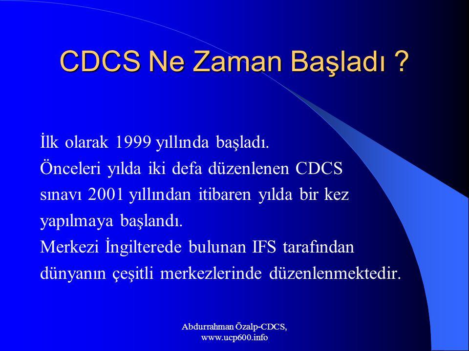 Abdurrahman Özalp-CDCS, www.ucp600.info