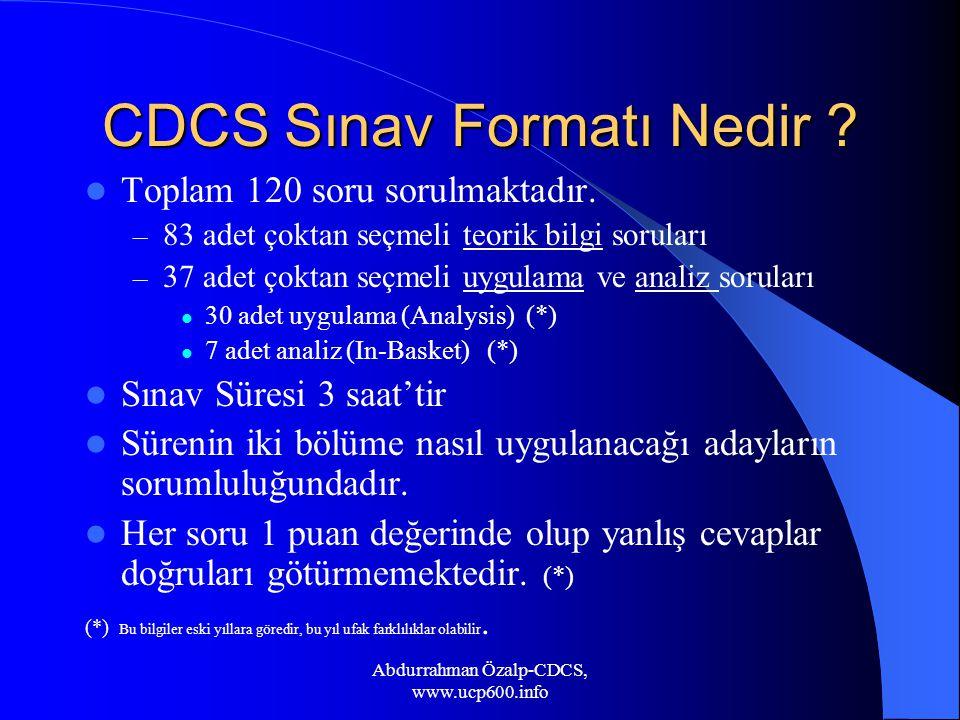 CDCS Sınav Formatı Nedir