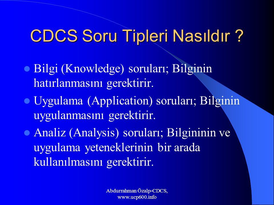 CDCS Soru Tipleri Nasıldır