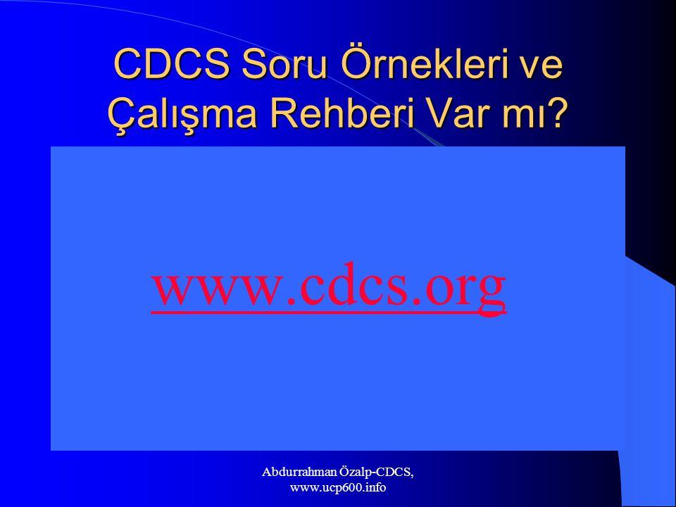 CDCS Soru Örnekleri ve Çalışma Rehberi Var mı