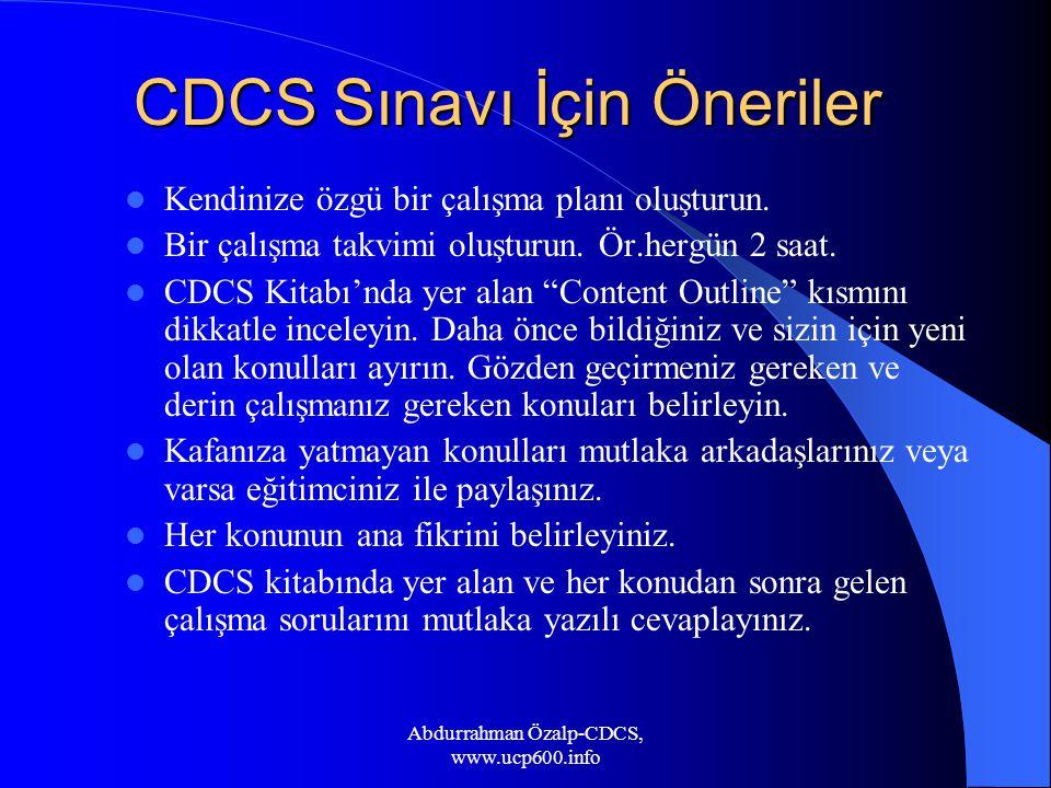 CDCS Sınavı İçin Öneriler