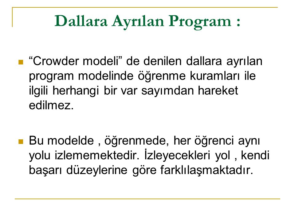 Dallara Ayrılan Program :