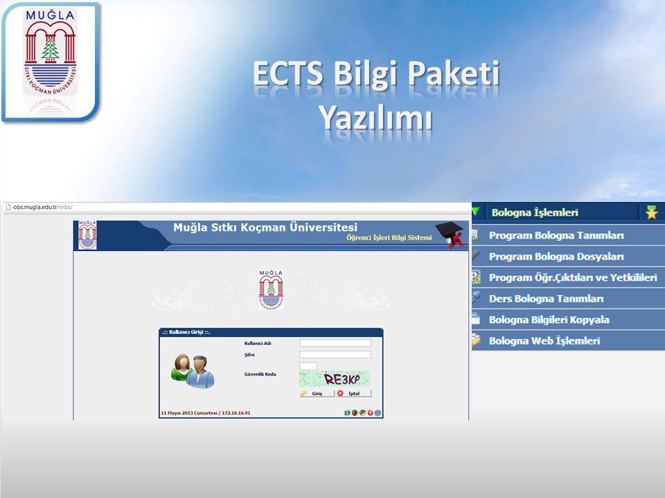 ECTS Bilgi Paketi Yazılımı