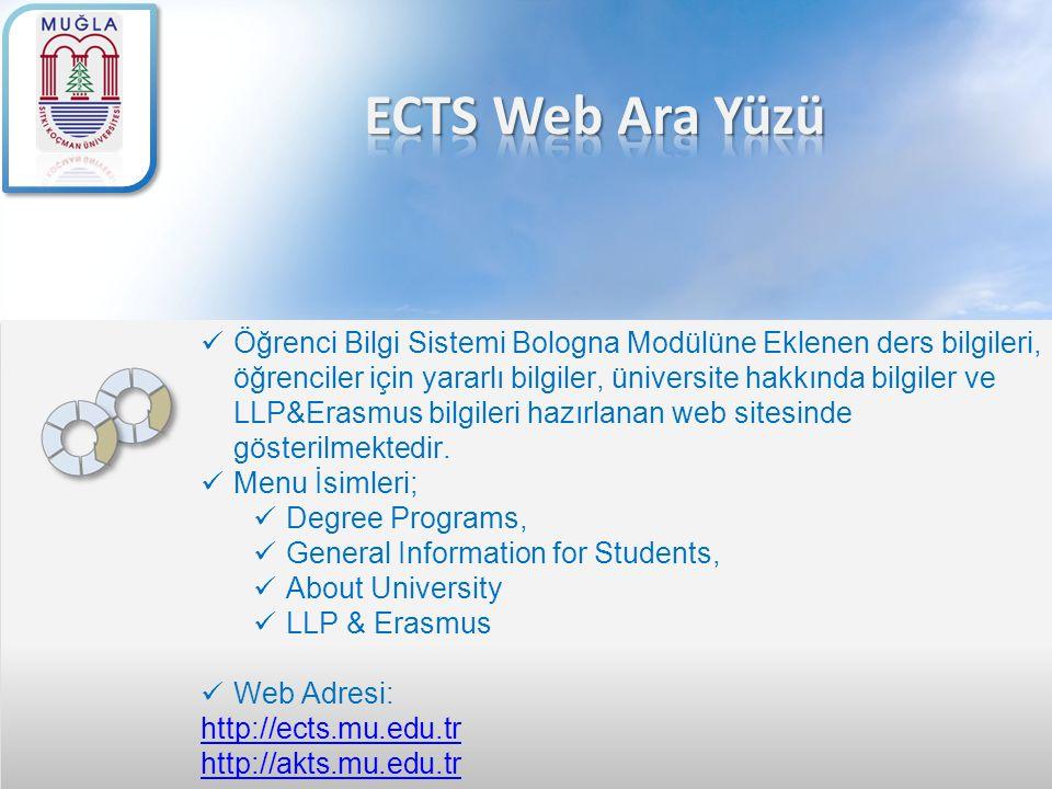 ECTS Web Ara Yüzü