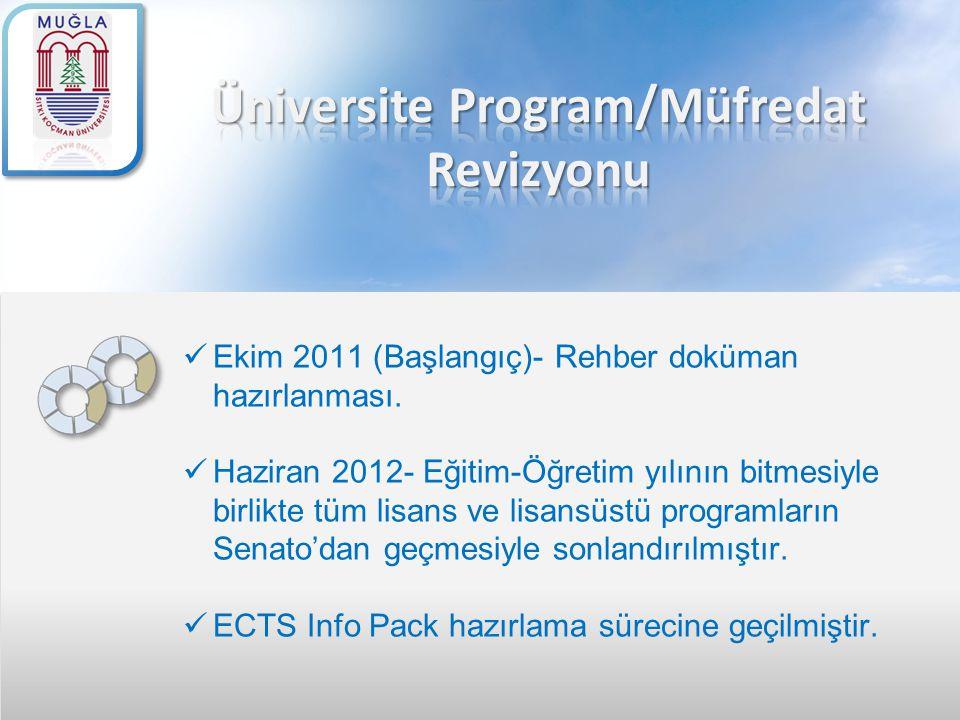 Üniversite Program/Müfredat Revizyonu