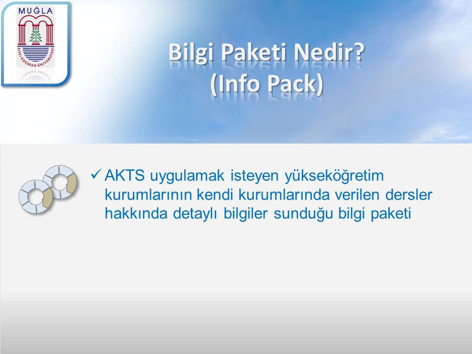 Bilgi Paketi Nedir (Info Pack)