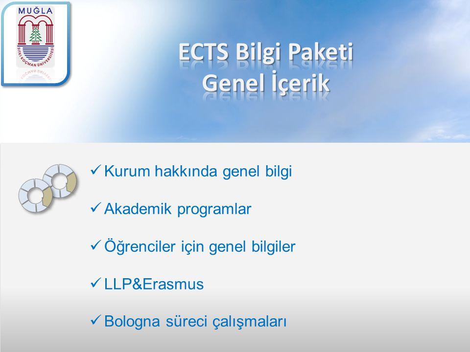 ECTS Bilgi Paketi Genel İçerik