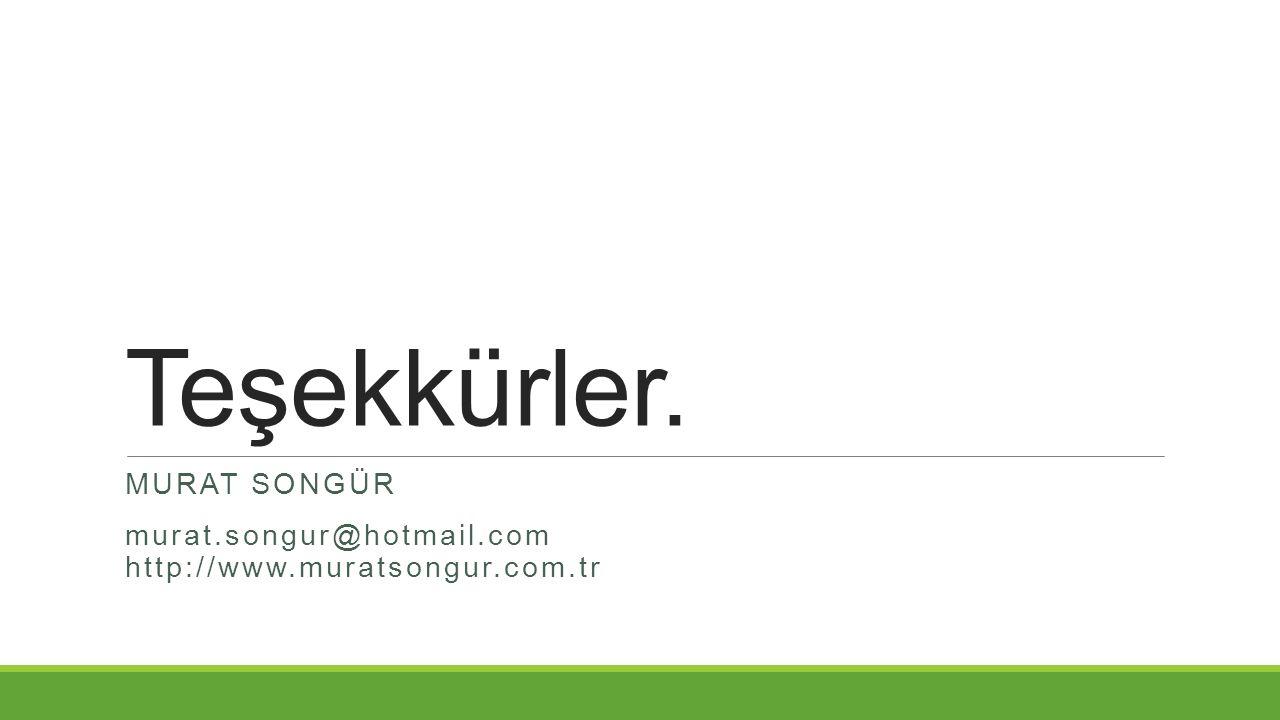 Murat SONGÜR murat.songur@hotmail.com http://www.muratsongur.com.tr