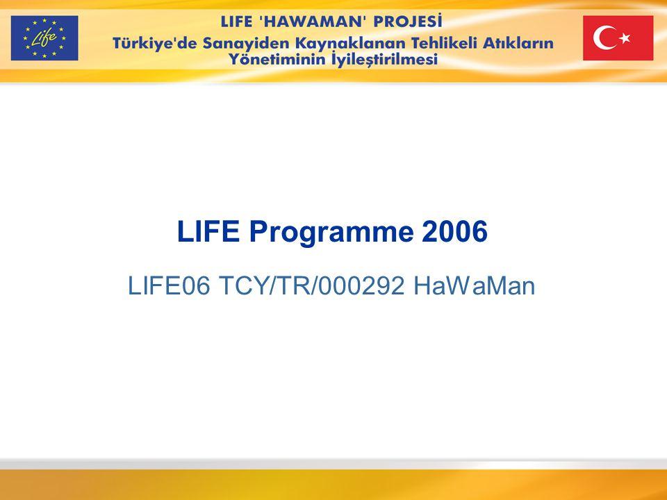 LIFE Programme 2006 LIFE06 TCY/TR/000292 HaWaMan