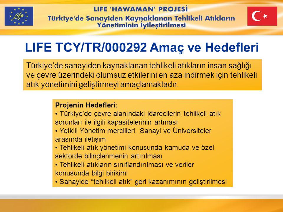 LIFE TCY/TR/000292 Amaç ve Hedefleri