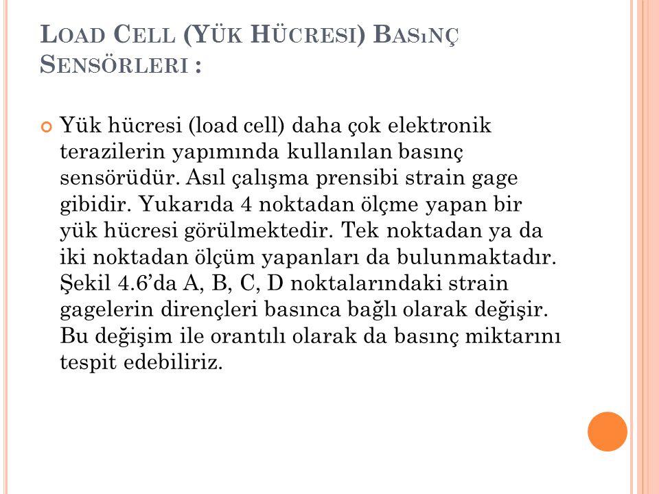 Load Cell (Yük Hücresi) Basınç Sensörleri :