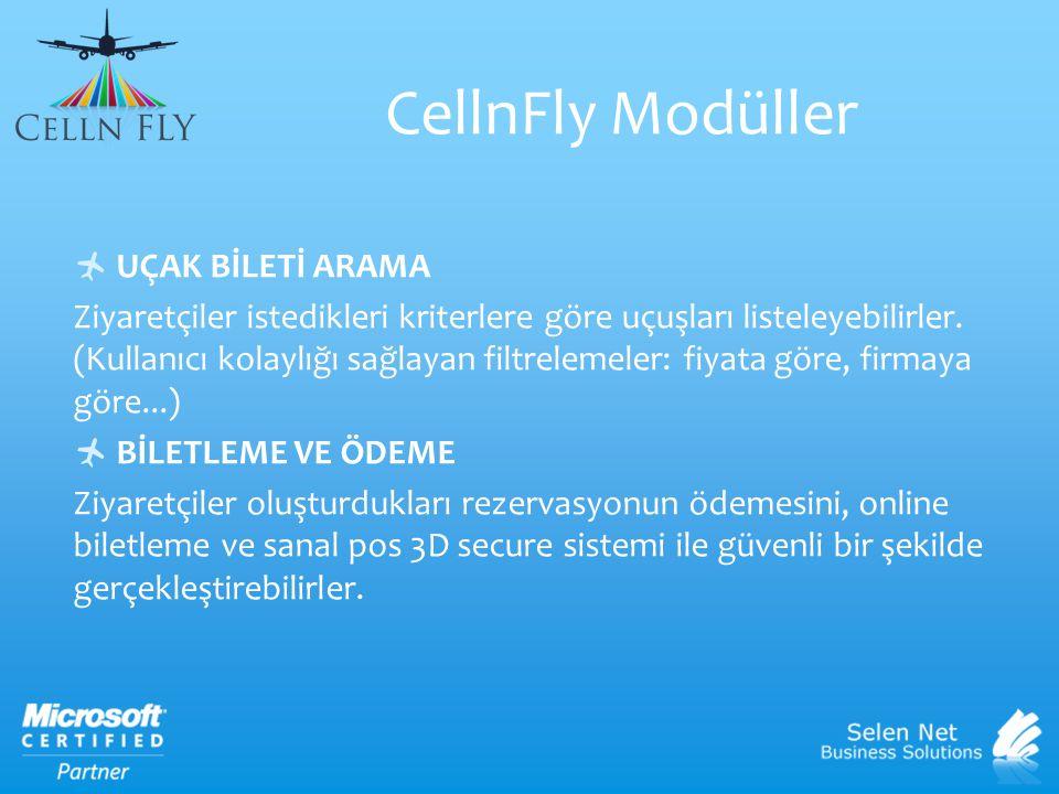 CellnFly Modüller UÇAK BİLETİ ARAMA