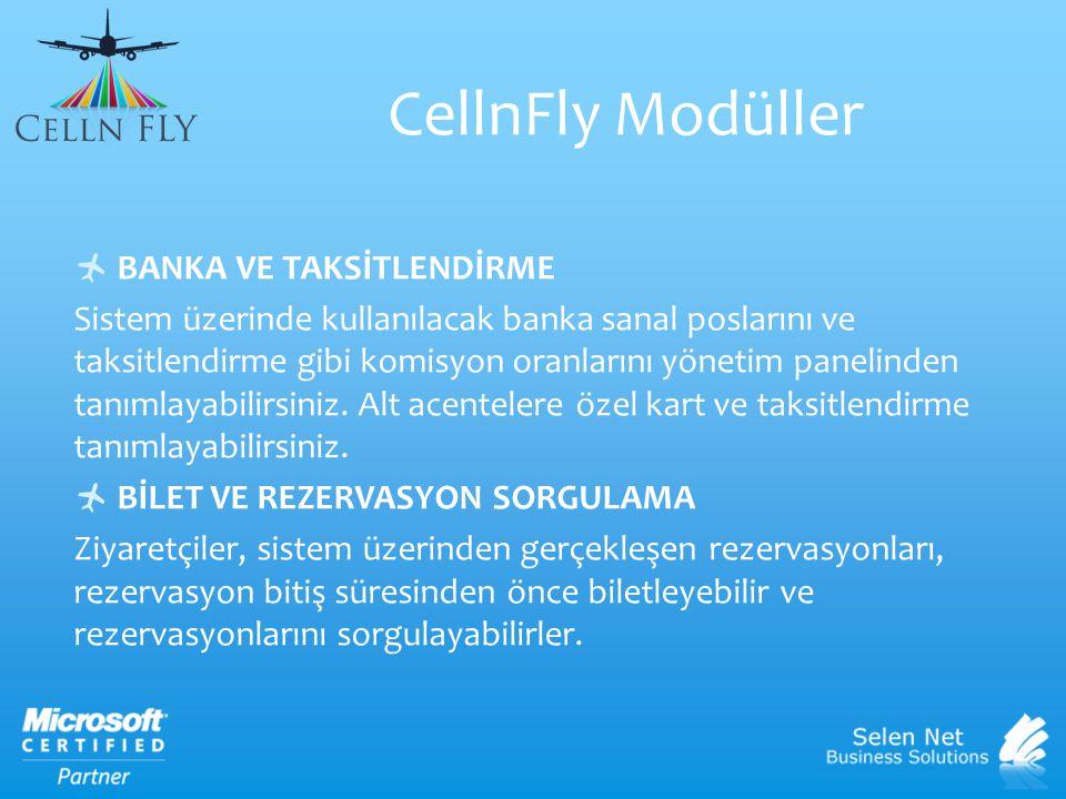 CellnFly Modüller BANKA VE TAKSİTLENDİRME