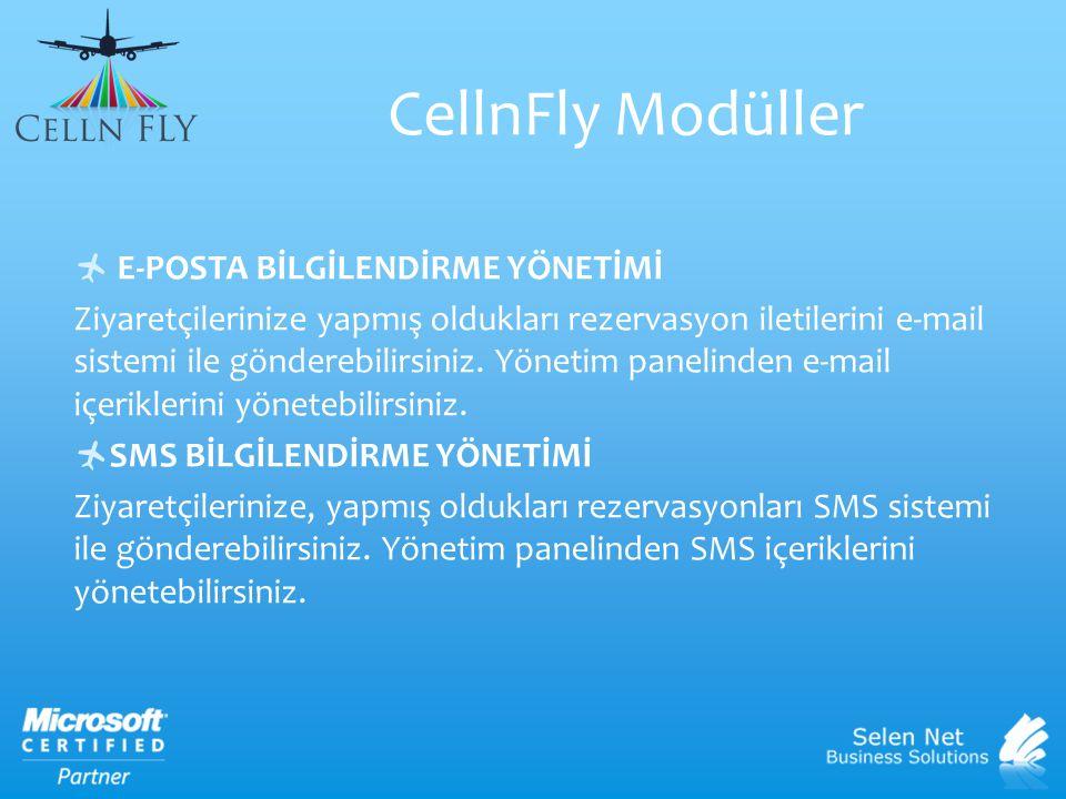 CellnFly Modüller E-POSTA BİLGİLENDİRME YÖNETİMİ