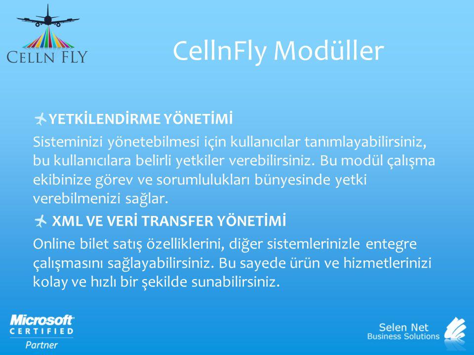 CellnFly Modüller YETKİLENDİRME YÖNETİMİ