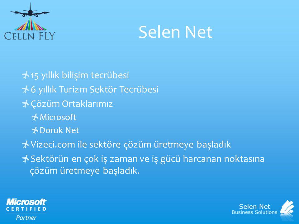 Selen Net 15 yıllık bilişim tecrübesi 6 yıllık Turizm Sektör Tecrübesi
