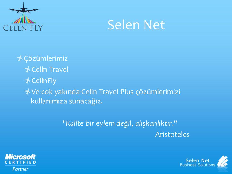 Selen Net Çözümlerimiz Celln Travel CellnFly