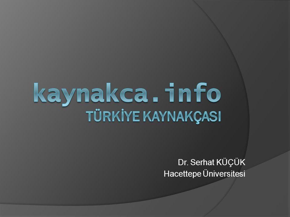 kaynakca.info TÜRKİYE KAYNAKÇASI