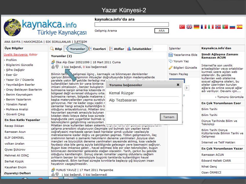 Yazar Künyesi-2