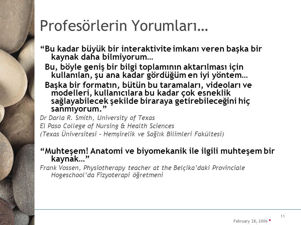 Profesörlerin Yorumları…