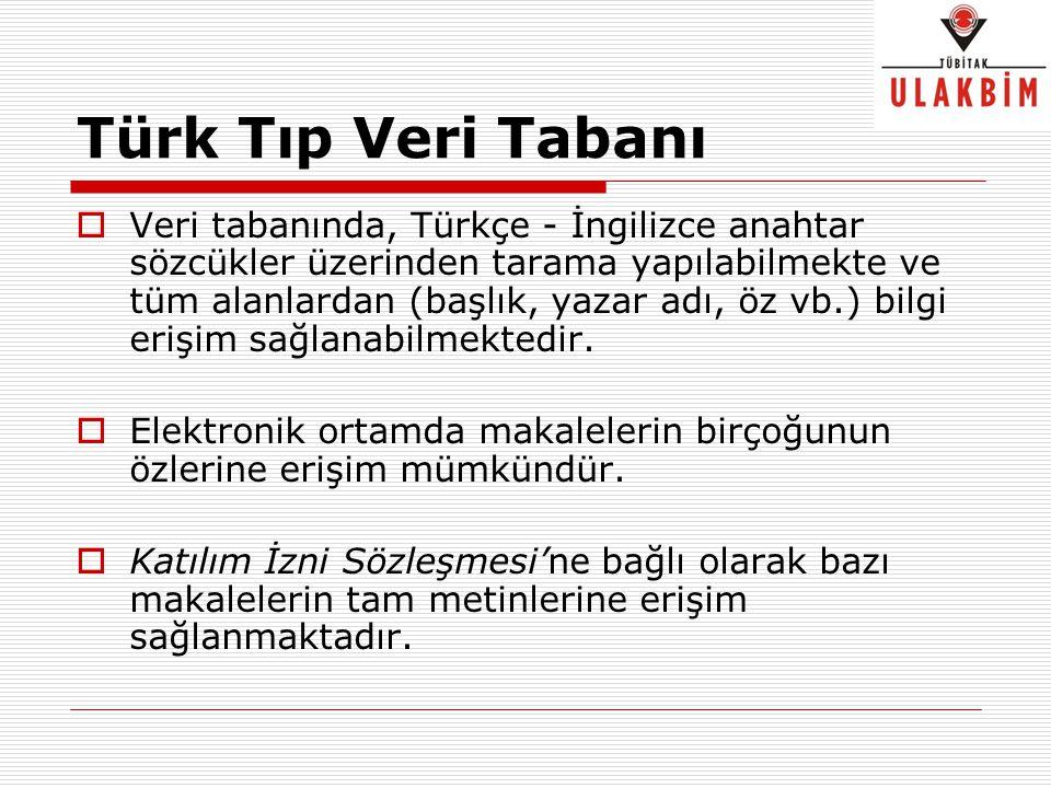 Türk Tıp Veri Tabanı