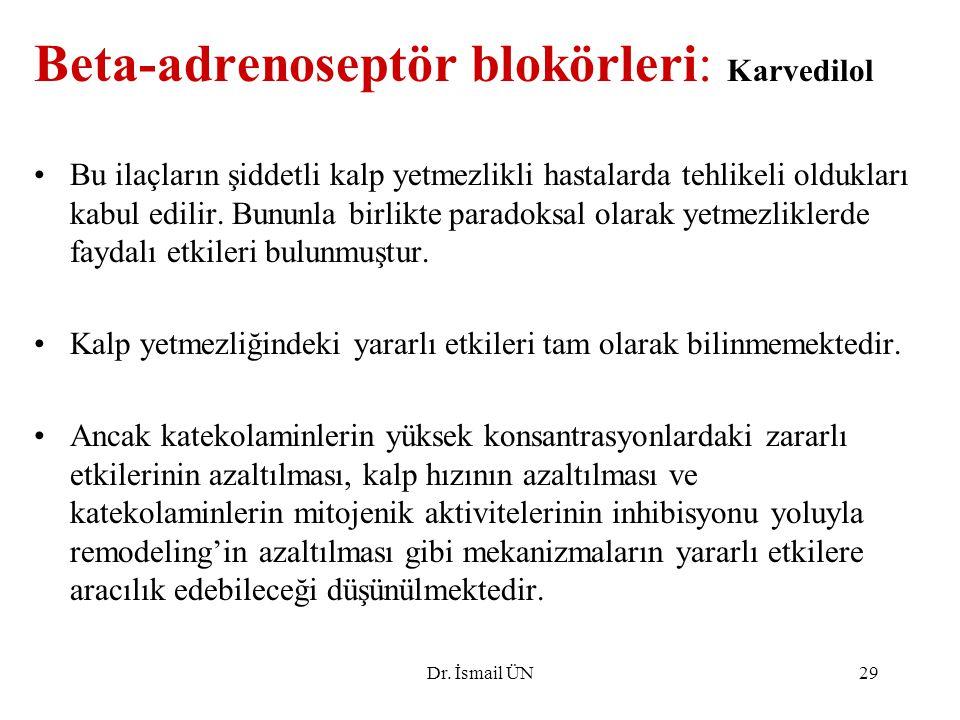Beta-adrenoseptör blokörleri: Karvedilol