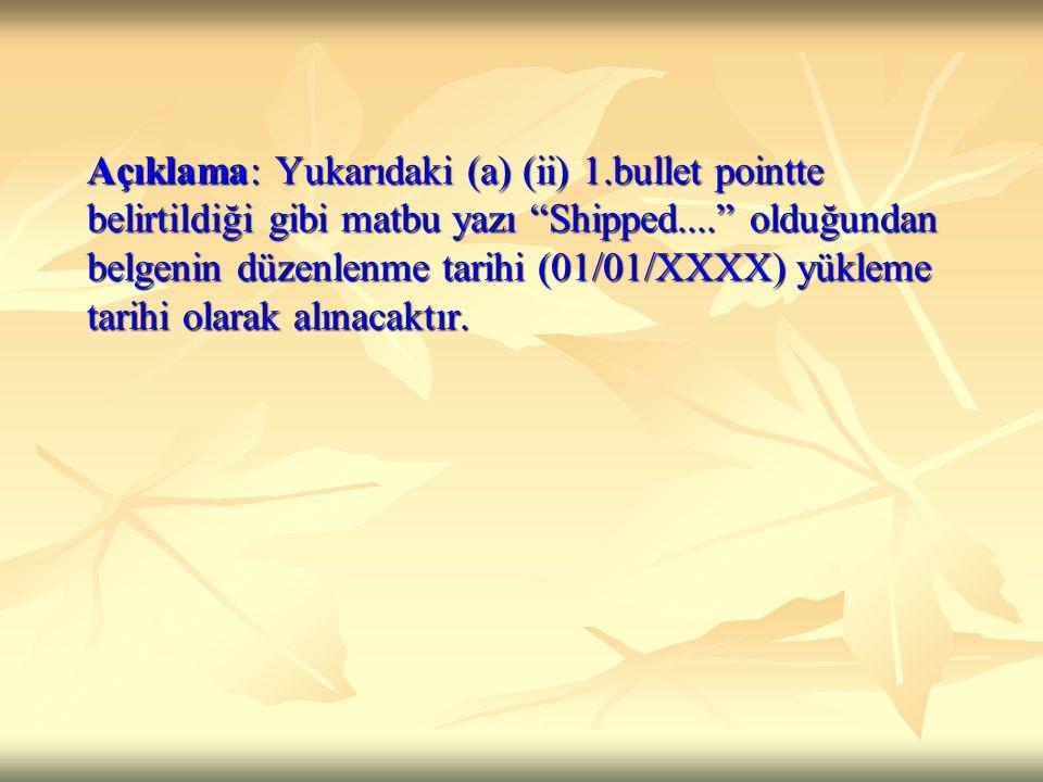 Açıklama: Yukarıdaki (a) (ii) 1