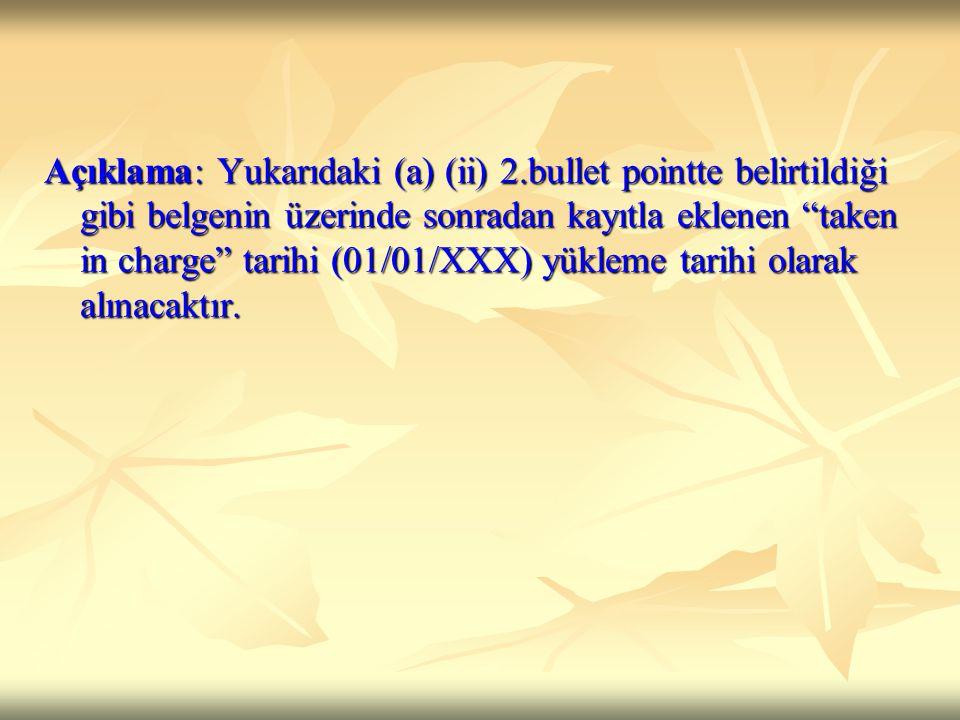 Açıklama: Yukarıdaki (a) (ii) 2