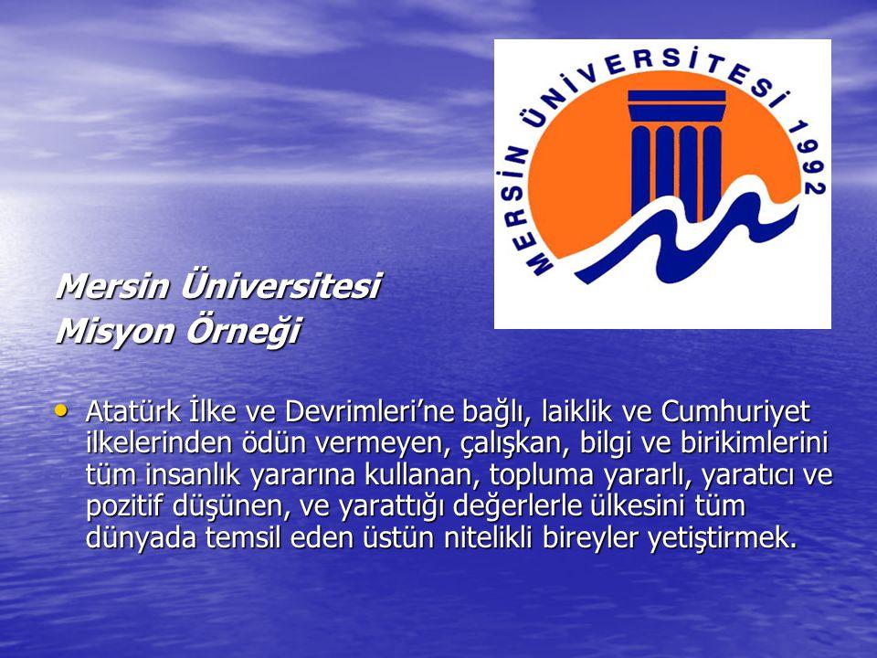 Mersin Üniversitesi Misyon Örneği