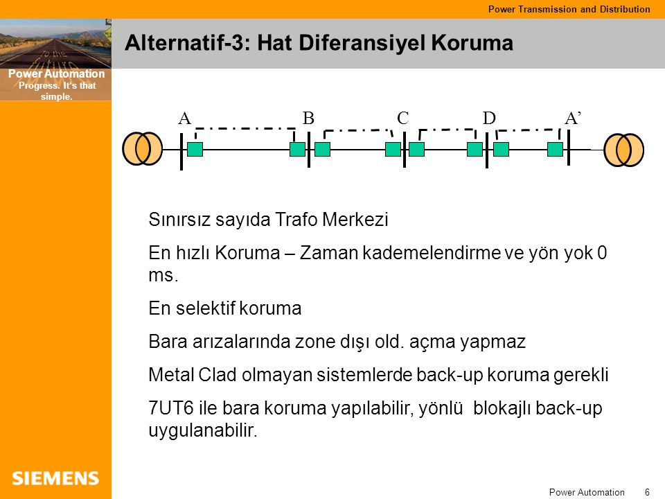 Alternatif-3: Hat Diferansiyel Koruma