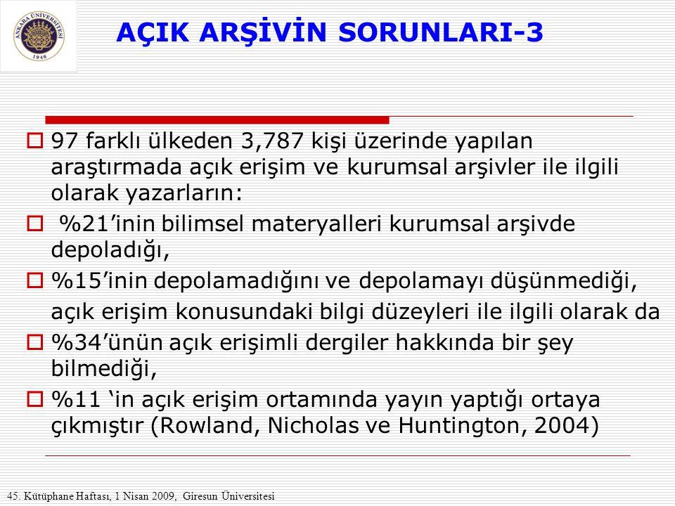 AÇIK ARŞİVİN SORUNLARI-3