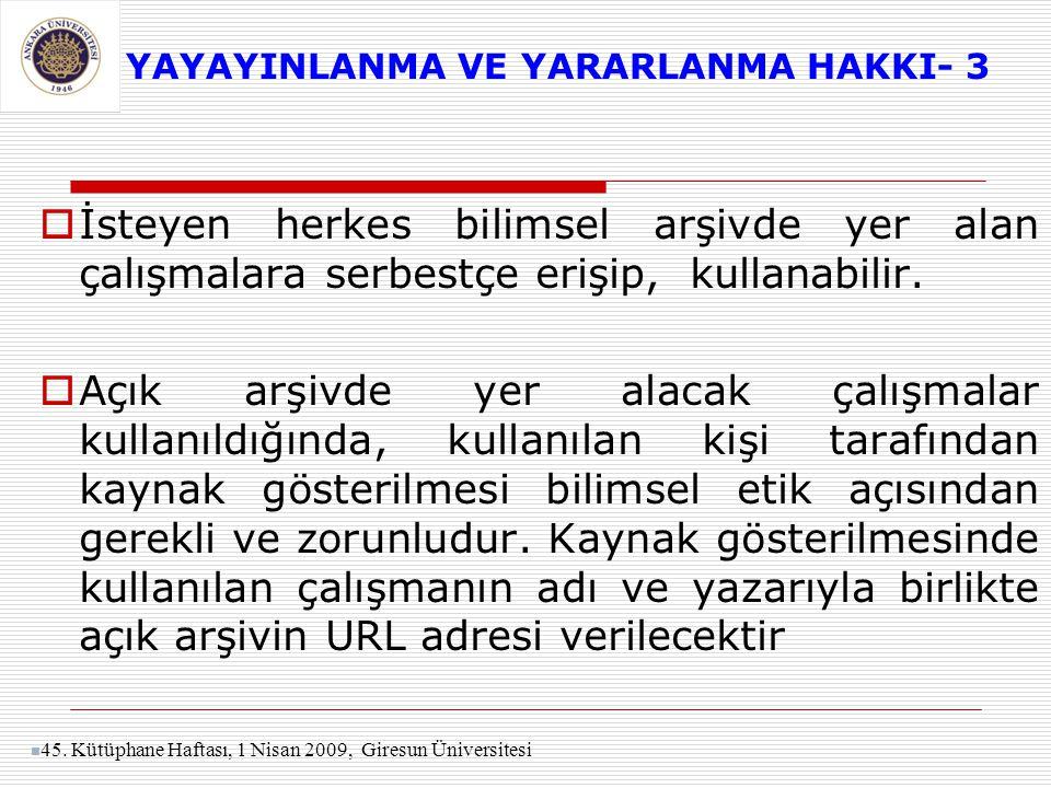 YAYAYINLANMA VE YARARLANMA HAKKI- 3