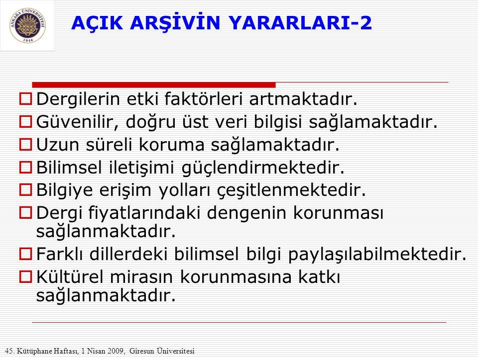AÇIK ARŞİVİN YARARLARI-2
