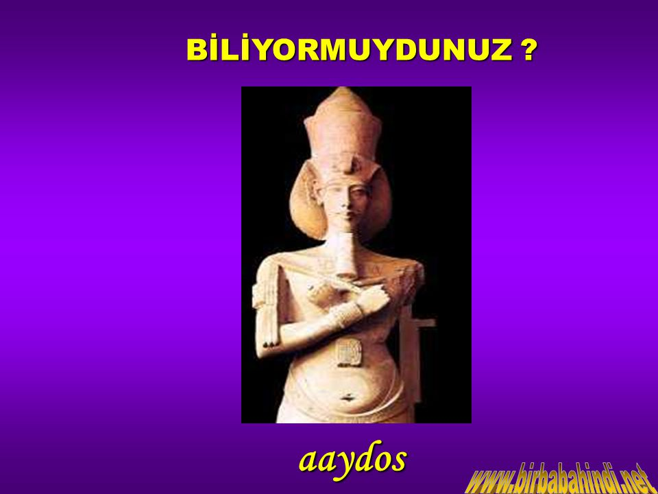 BİLİYORMUYDUNUZ aaydos www.birbabahindi.net