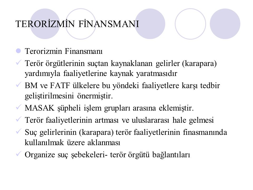 TERORİZMİN FİNANSMANI