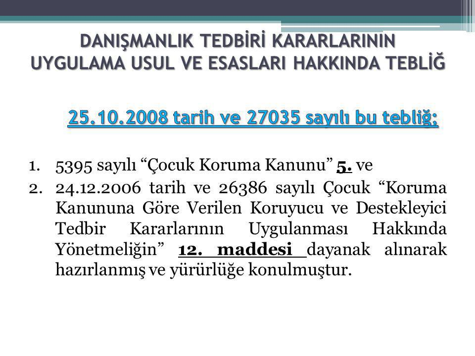 25.10.2008 tarih ve 27035 sayılı bu tebliğ;