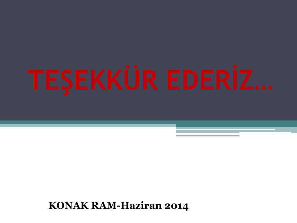 TEŞEKKÜR EDERİZ… KONAK RAM-Haziran 2014