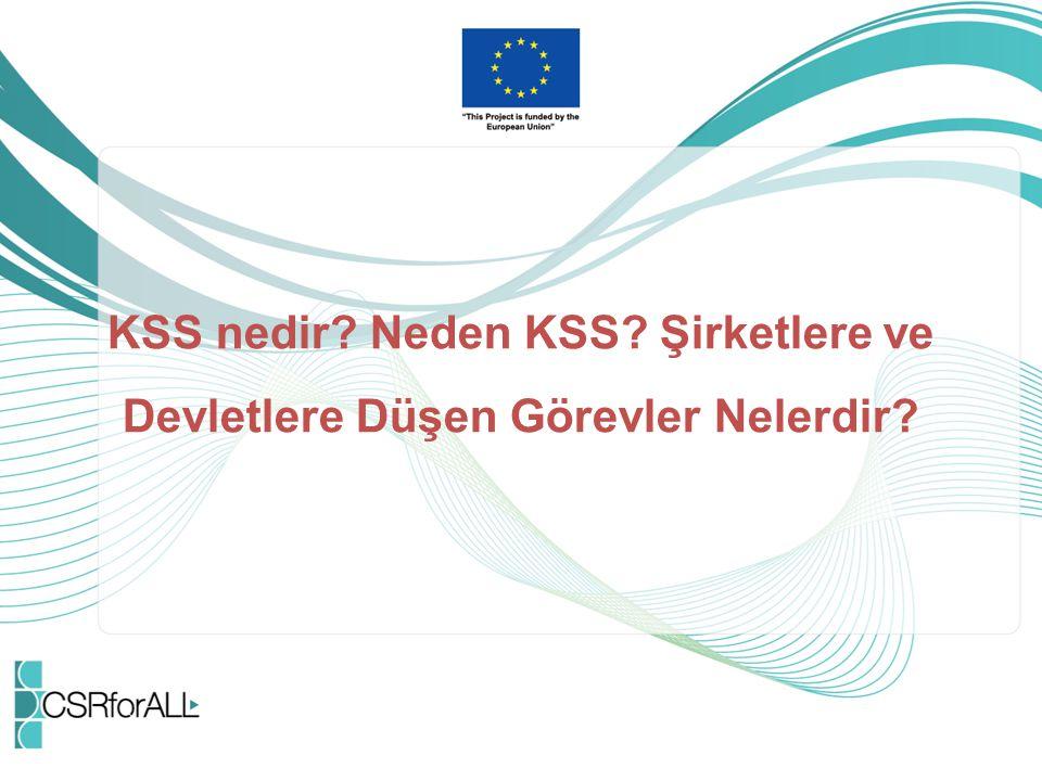 KSS nedir Neden KSS Şirketlere ve Devletlere Düşen Görevler Nelerdir