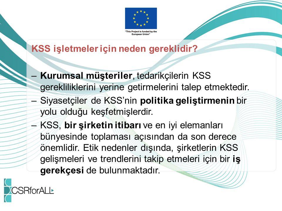 KSS işletmeler için neden gereklidir