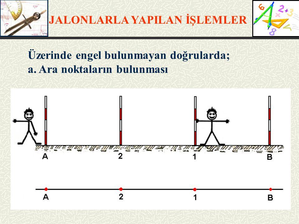 JALONLARLA YAPILAN İŞLEMLER