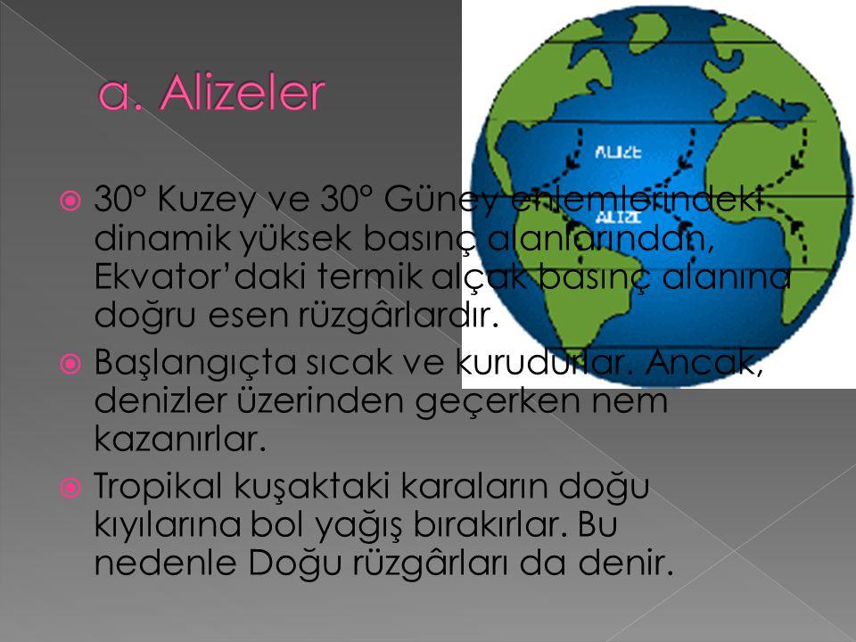 a. Alizeler