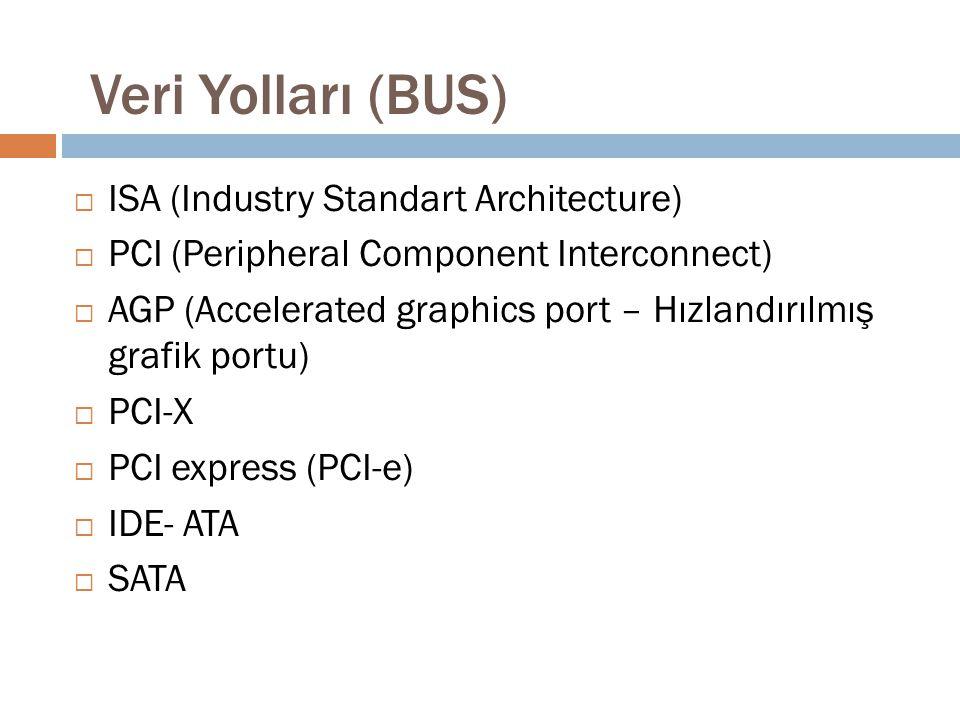 Veri Yolları (BUS) ISA (Industry Standart Architecture)
