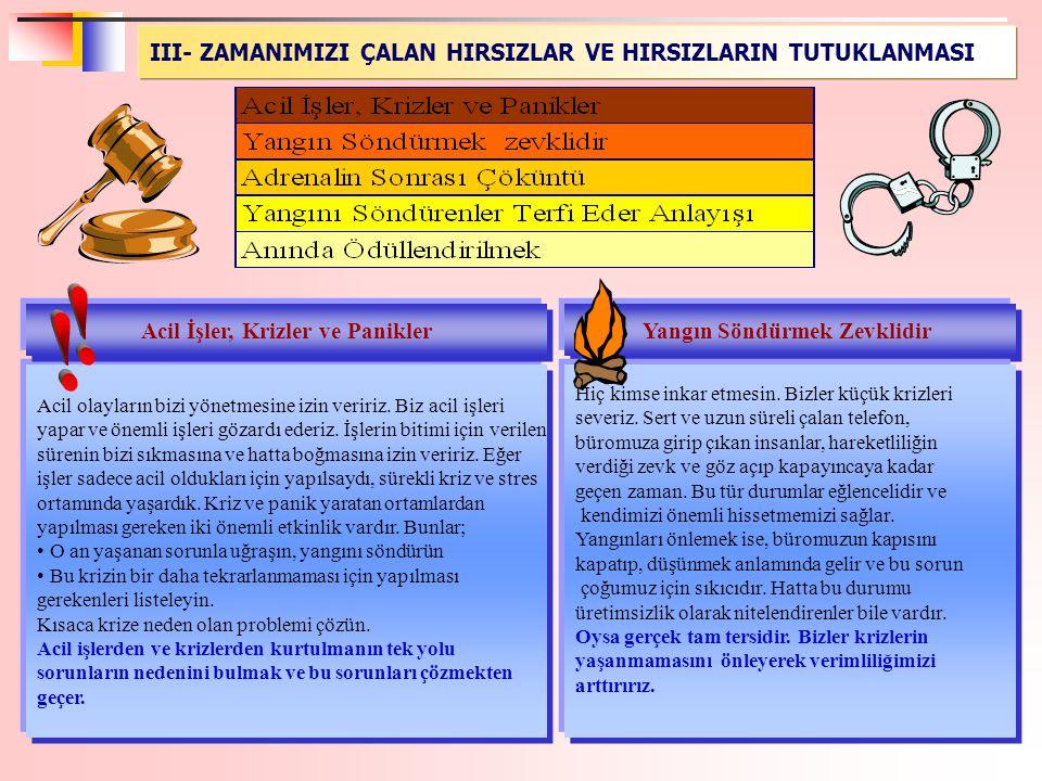 Yangın Söndürmek Zevklidir Acil İşler, Krizler ve Panikler