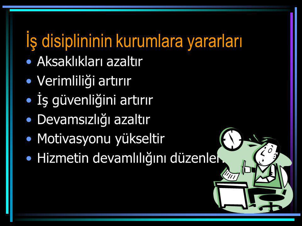 İş disiplininin kurumlara yararları