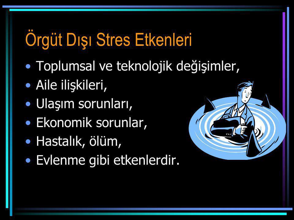 Örgüt Dışı Stres Etkenleri