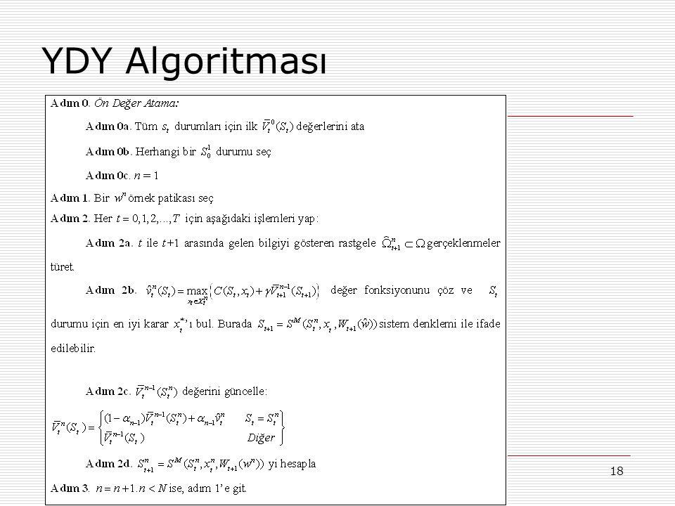 YDY Algoritması 01.07.2010 YAEM 2010