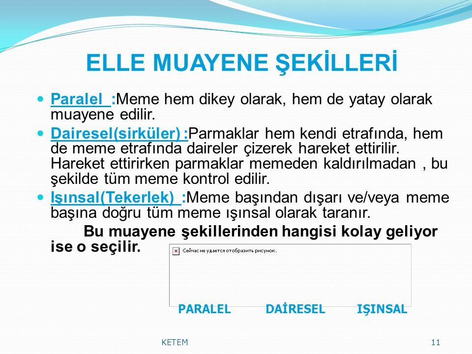 ELLE MUAYENE ŞEKİLLERİ