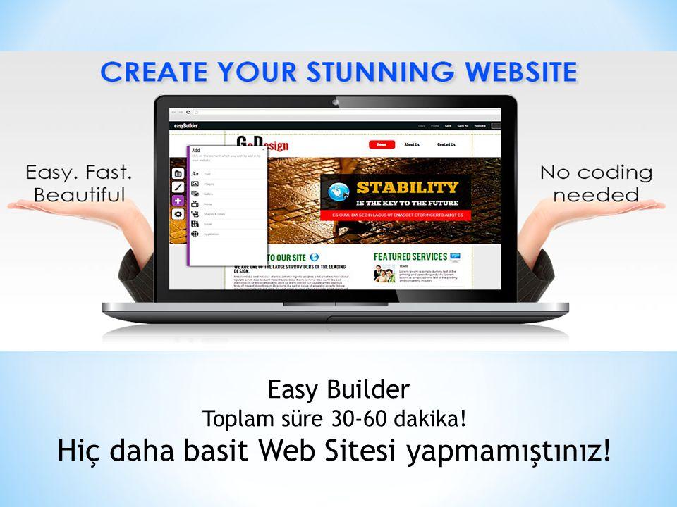 Hiç daha basit Web Sitesi yapmamıştınız!