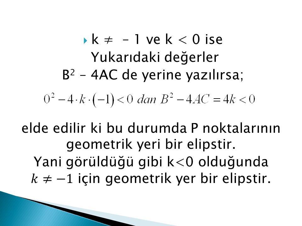 B2 – 4AC de yerine yazılırsa;
